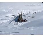 Heliski (heliskiing), heliboarding in Kyrgyzstan. Western Tien-Shan