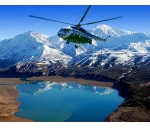 On the helicopter to heavenly mountains